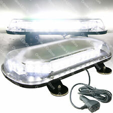 34W LED Strobe Warning Mini Light Bar For Emergency Personal Vehicles - WHITE