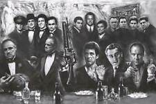 GANGSTER COLLAGE - GIANT POSTER 55x40 - MURAL ART 52257