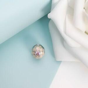 UK Pandora Sterling Silver Blooming Dahlia Clip Charm Genuine 791828NBP