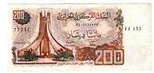 Algeria Algerie Billet 200 DINARS 23/03/ 1983  P135  BON ETAT