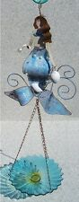 "Bird Feeder Bath Mermaid Glass NEW hanging 8 1/2"" diameter"