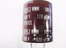 120uF 100uF 400V 105°C ELKO radial snap in Nippon #15E30