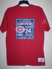 MONTREAL CANADIENS Short Sleeve Shirt (M) Medum RED 24 Championships 1909-2009