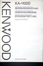 KENWOOD KA-1100D Amplifier/Verstärker Original Bedienungsanleitung/User Manual
