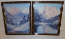 Dino Massaroni 1990 US Commemorative Prints Framed Fine Art Gallery Lot of 2