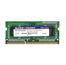 Super Talent DDR3-1333 SODIMM 2GB/256X8 Notebook Memory