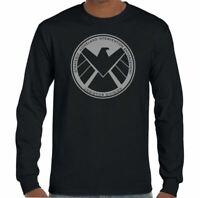 Marvels Agents Of Shield T-Shirt Mens Superhero The Avengers Iron Man
