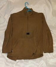USMC ISSUE POLARTEC HALF ZIP 100% FLEECE PULLOVER COYOTE BROWN SMALL