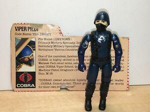 GI Joe Cobra Viper Pilot 1983 w/ File Card