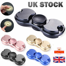Mini Finger Spinners Alliage Spinner deux feuilles Bangers Key-Ring Fob Rose ref01d8