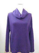Coldwater Creek Turtleneck Sweater Purple Merino Wool Long Sleeve Women SZ L/14
