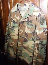 US Military Men's Combat Jacket Shirt Woodland Camo BDU MEDIUM REGULAR