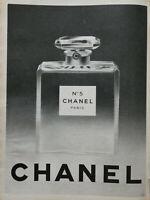 PUBLICITÉ DE PRESSE 1960 PARFUM CHANEL N°5 - PARIS