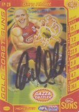 Signed Gary Ablett Jnr Gold Coast Suns Autograph on 2016 TeamCoach Power Card