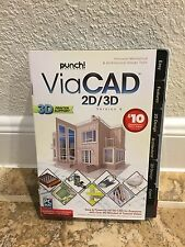 Punch Software ViaCAD 2D/3D Version 9 New Sealed Printing Disc