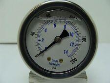 """202T-208G 2"""" Low Temp Mix Gauge Stainless Case 1/8"""" NPT CBM 0/200 psi"""