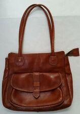 964882bc3f Vintage 70's BROWN LEATHER SHOULDER BAG PURSE Handbag - Boho Hippie Festival