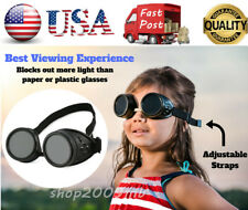 Solar Eclipse Antique Glasses Shade 14 Goggles Kids Child Safe Sun Viewing Study