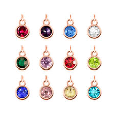 12pcs birthstone hang pendant charms fit necklace phone strip Free shipping H483