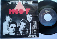 "After The Fire / 1980-F / Joanne 7"" Single Vinyl 1980"