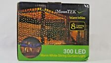Warm White 300 LED Curtain Lights  3 meters by 3 meters with multiple modes A16-