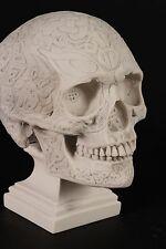 Celtic Knotwork Skull Marble Sculpture. Art, Gift, Ornament, Pagan