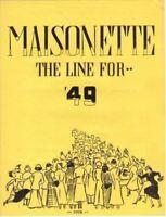 Vintage  Maisonette Sales Team Letter From Ward-Stilson Historical