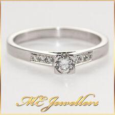 Solid 18K 18 k 750 0.23ct carat TDW solitaire diamond ring Round Brilliant