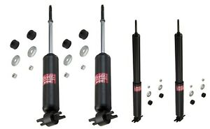 Performance Leveling fits CHEVROLET Camaro KYB Quick Mount Kit of 4 Struts/&Shocks Front + Rear IROC 1982-92 GR-2//EXCEL-G Twin Tube Gas Charged for Replacement Z28 Touring /& 4x4 Offroad