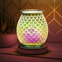 Electric 3D Touch Lamp Oil Burner Scented Aroma Wax Orb Design Light Home Deco