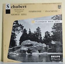 33T 25 cm SCHUBERT SZEIL Disque SYMPHONIE INACHEVEE Classique PHILIPS 06628