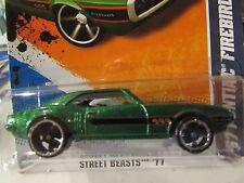Hot Wheels '67 Pontiac Firebird 400 Street Beasts Green