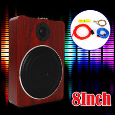 8'' Wooden Under-Seat Car Subwoofer Speaker Active Stereo Bass Audio Powered Amp