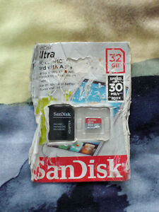 Sandisk Ultra 32GB Micro SDHC Card 30MB/s with Adaptor REFORMATTED