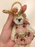 Prada Bag Charm Pink Dress Paris Fashion Week Bear Keychain Key Holder Keyring