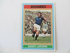 1970s Topps Chewing Gum Card No.20 Sandy Jardine Glasgow Rangers Defender