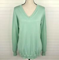 Worthington SZ XL Tall Sweater Long Sleeve Knit V-Neck Pullover Light Green