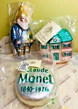 Patricia Breen Orig 3pc Monet Set Aic 95 Blue Figure Medallion House Unopened