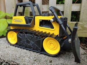 "Tonka Construction Bulldozer M-7461 13 "" Rubber Tracks Hasbro Funtime 2012"