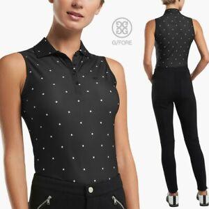 G/Fore Stars Sleeveless Polo Top Ltd. Edition S M L Onyx/Snow Womens Golf