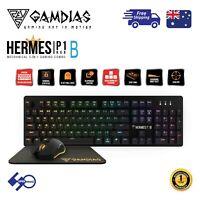 Computer Gaming Mechanical Keyboard+Mouse Combo Gamdias HERMES P1B with MousePad