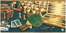 CHESS GAMES,DICE, POKER ,POOL DEN OR SPORTS ROOM Wallpaper bordeR Wall