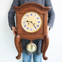 MAUTHE Antique GERMAN Mantel Clock RARITY! SOLID Wood Gong Chime! FULLY RESTORED