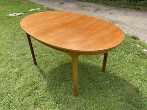 Vintage Mid Century Teak McIntosh Extending Dining Table Oval Retro