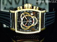 Invicta Men's S1 Rally Tonneau Swiss ETA Chronograph Black Dial Gold Tone Watch