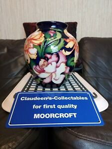 MOORCROFT ASIA VASE.  LARGE 8 INCH,  RRP BARCODE £1130.00, FIRST QUALITY.