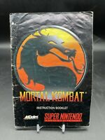 Mortal Kombat 1 SNES Super Nintendo Instruction Manual Only - Good