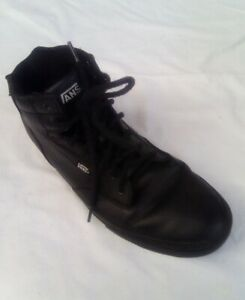Men's Vans Off The Wall Black Leather Trainers UK Size 11 (Excellent Condition)