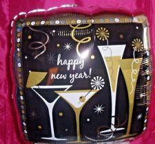 """18"""" FELICE ANNO NUOVO-Champagne flauti Cocktail adatto per riempimento elio o aria"""