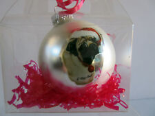 New Pug Pet Dog Christmas Holiday Ball Ornament By Ruth Maystead Pugs
